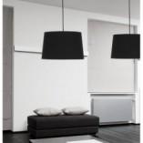 Stylowa Lampa wisząca z abażurem Maja 45 Czarna TK Lighting do salonu i sypialni.