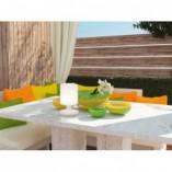 Lampa stołowa zewnętrzna Barbados Biała Reality na taras i balkon.