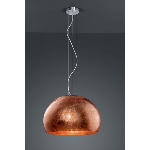 Stylowa Lampa miedziana wisząca kula Ontario 51 Trio do kuchni
