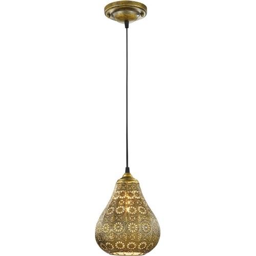 Lampa orientalna wisząca Jasmin 19 Patyna Trio do kuchni