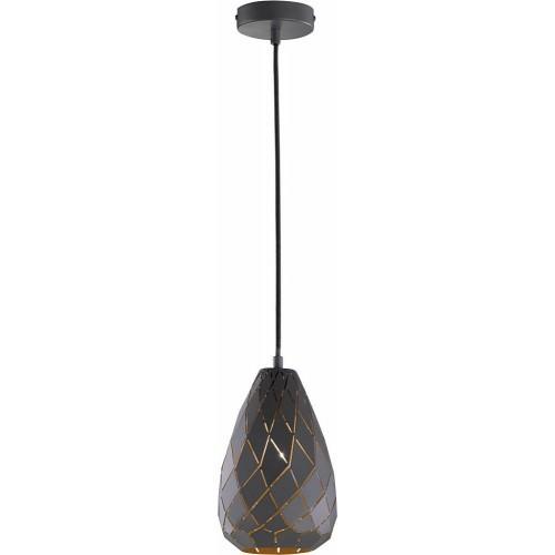 Dekoracyjna Lampa wisząca ażurowa geometryczna Onyx 15 Antracyt Trio do kuchni