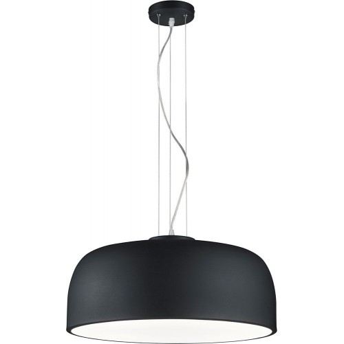 Minimalistyczna Lampa wisząca okrągła Baron 52 Czarny Mat Trio do kuchni