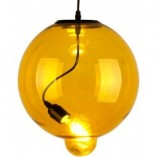 Stylowa Lampa wisząca szklana kula Glass Bubble 25 Żółta Altavola do kuchni