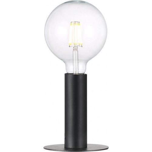 """Minimalistyczna Lampa stołowa """"żarówka"""" Dean Czarna Nordlux do salonu"""