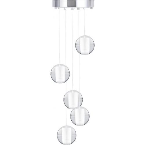 Lampa wiszące kule Starlight 5 Transparentna Step Into Design do salonu i nad stół.