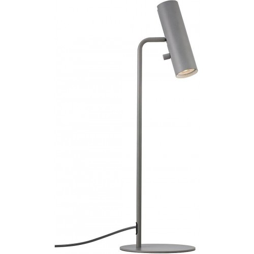 Lampa biurkowa minimalistyczna Mib 6 Szara Dftp do gabinetu i pracowni.