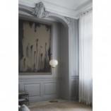 Lampa podłogowa szklana glamour Raito Biała Dftp do sypialni i salonu.