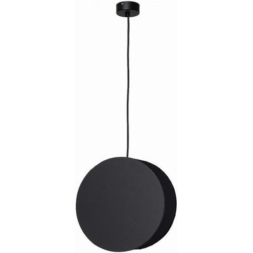 Minimalistyczna Lampa wisząca okrągła Wheel 25 Czarna Nowodvorski do kuchni
