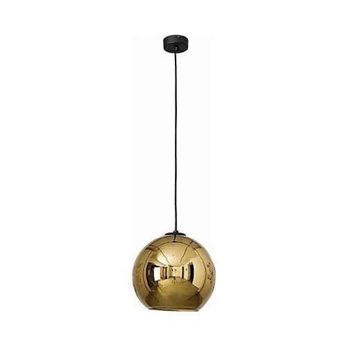 Designerska Lampa wisząca szklana kula Polaris 25 Złota Nowodvorski do salonu