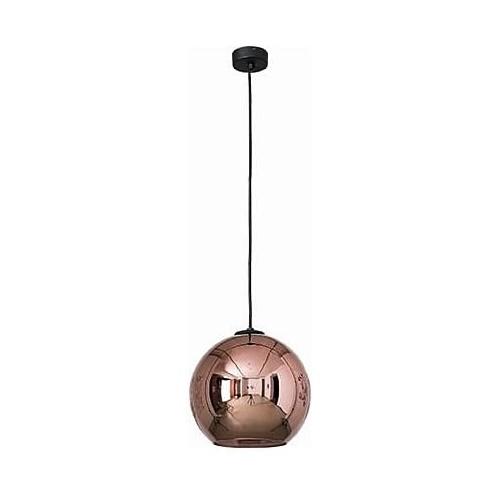 Designerska Lampa wisząca szklana kula Polaris 25 Miedziana Nowodvorski do salonu