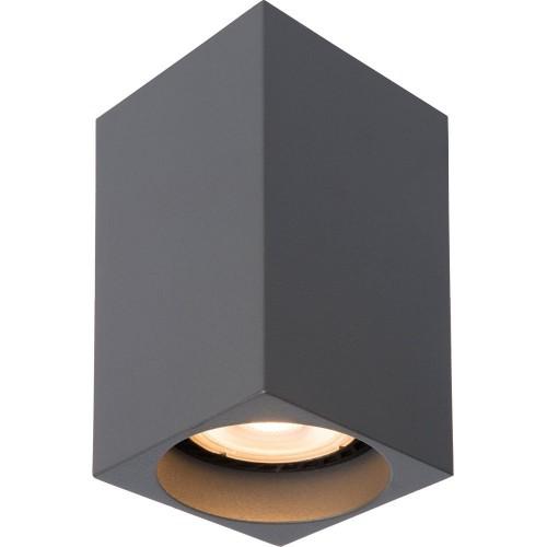Lampa Spot Delto Led Kwadratowy Szary Lucide do kuchni