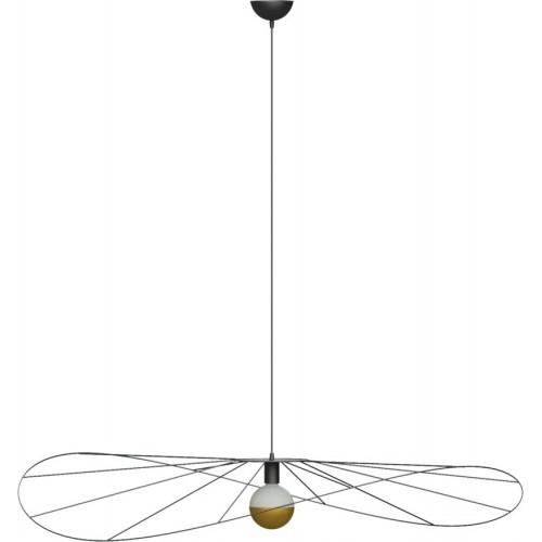Lampa wisząca druciana designerska Eskola 110 Thoro do salonu