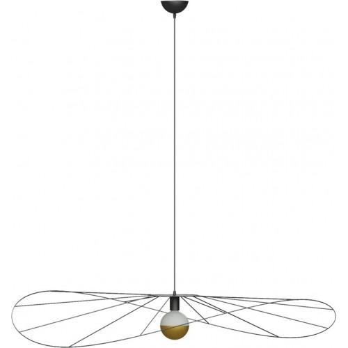 Lampa wisząca druciana designerska Eskola 140 Thoro do salonu