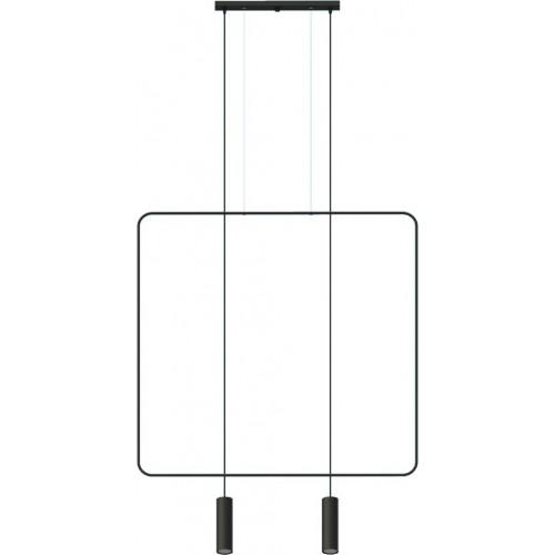 Minimalistyczna Lampa druciana wisząca 2 punktowa Rana II Thoro do kuchni i nad stół.