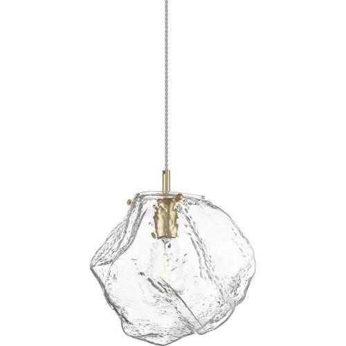 Lampa wisząca szklana glamour ROCK 30 przeźroczysty/złoty ZumaLine do sypialni