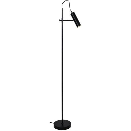 Minimalistyczna Lampa podłogowa tuba TENSO czarna ZumaLine do salonu