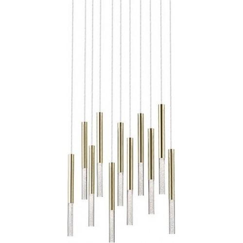 Stylowa Lampa wiszące tuby glamour ONE XI LED złota ZumaLine nad stół lub wyspę kuchenną.