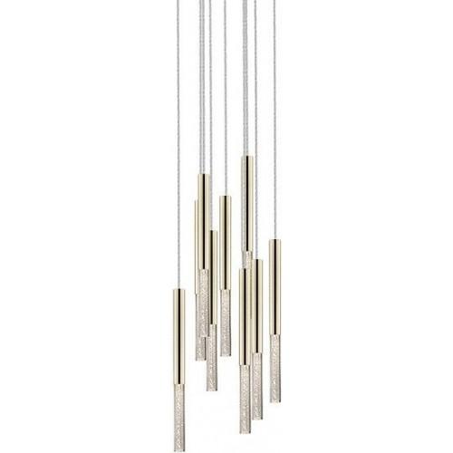 Stylowa Lampa wiszące tuby glamour ONE IX LED złota ZumaLine nad stół lub wyspę kuchenną.