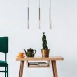 Lampa wisząca tuba nowoczesna ONE LED biała ZumaLine do salonu