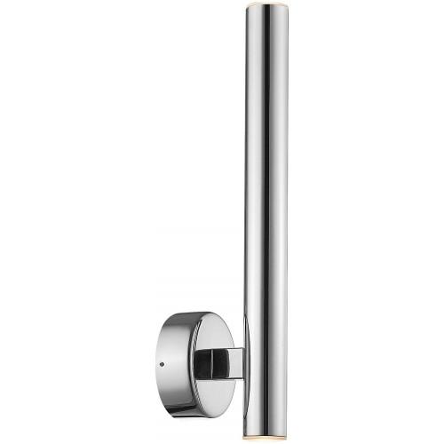 Kinkiet minimalistyczny tuba LOYA II LED srebrny ZumaLine do sypialni