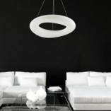 Lampa wisząca okrągła nowoczesna LIMA 46 LED biała ZumaLine do kuchni i jadalni.
