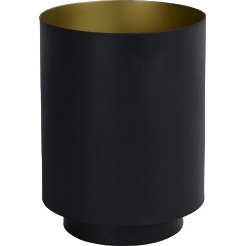 Lampa stołowa minimalistyczna Suzy Round Czarna Lucide do salonu