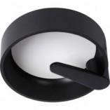 Minimalistyczny Plafon sufitowy okrągły Miami 30 Led Czarny Lucide do kuchni
