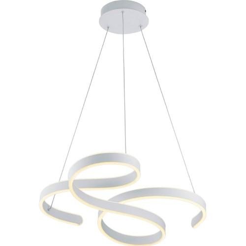 Lampa wisząca nowoczesna Francis 72 Led Biała Trio do salonu