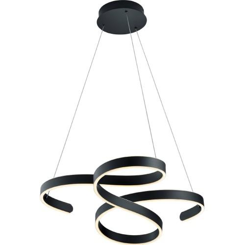 Lampa wisząca nowoczesna Francis 72 Led Czarna Trio do salonu