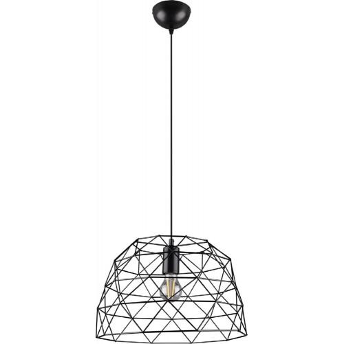 Lampa wisząca druciana loft Haval 38 Czarna Trio do sypialni