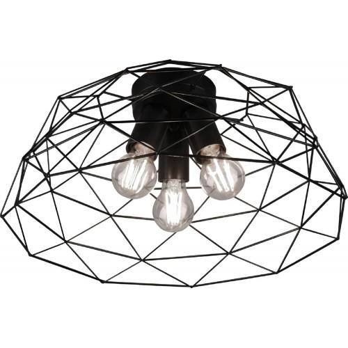Industrialny Plafon druciany geometryczny Haval 45 Czarny Trio do kuchni
