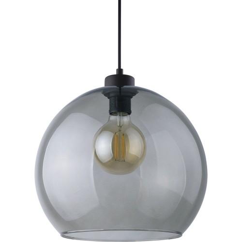 Nowoczesna Lampa wisząca szklana kula Cubus Graphite 30 Grafitowa TK Lighting do salonu