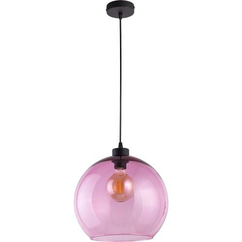 Stylowa Lampa wisząca szklana kula Cubus 30 Różowa TK Lighting do kuchni