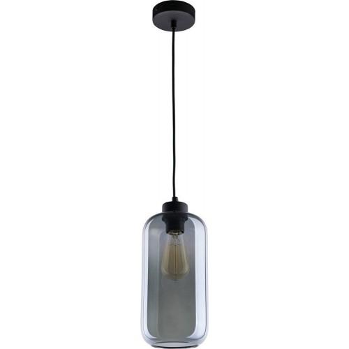 Stylowa Lampa wisząca szklana Marco 13 Grafitowa TK Lighting do kuchni