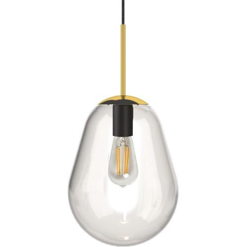 Designerska Lampa wisząca szklana Pear 30 Przezroczysta Nowodvorski do salonu