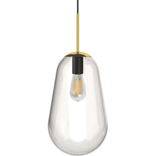 Designerska Lampa wisząca szklana Pear 38 Przezroczysta Nowodvorski do salonu