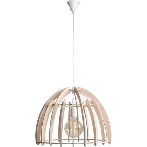 Skandynawska Lampa ze sklejki wisząca Forest 51 naturalna Aldex do salonu i sypialni.