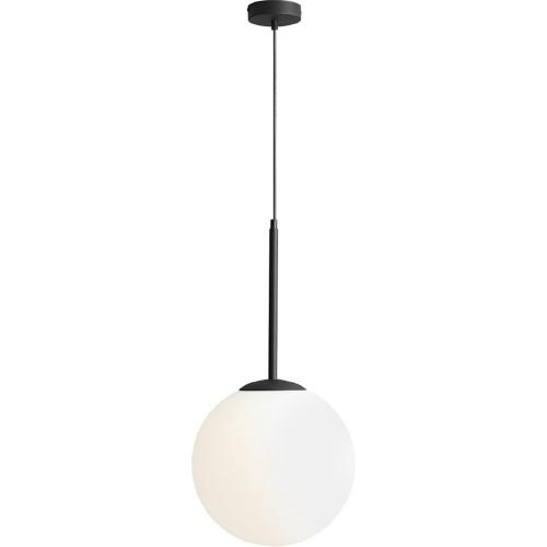 Designerska Lampa wisząca szklana kula Balia 30 biało-czarna Aldex do salonu