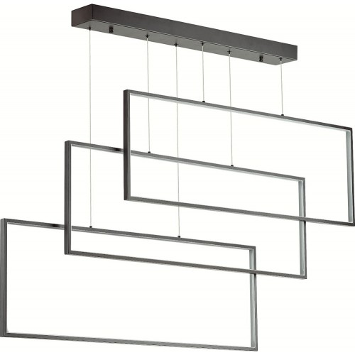 Minimalistyczna Lampa wisząca nowoczesna Projekt LED czarna Auhilon do kuchni i nad stół.