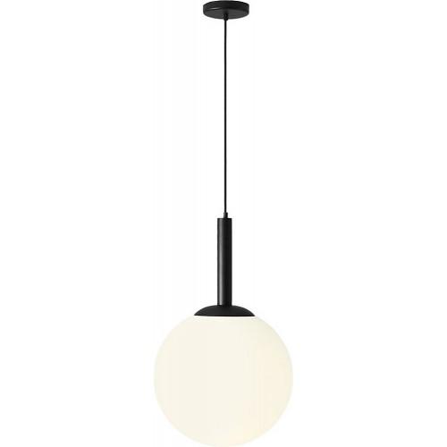Designerska Lampa wisząca szklana kula Balia 40 biało-czarna Aldex do salonu