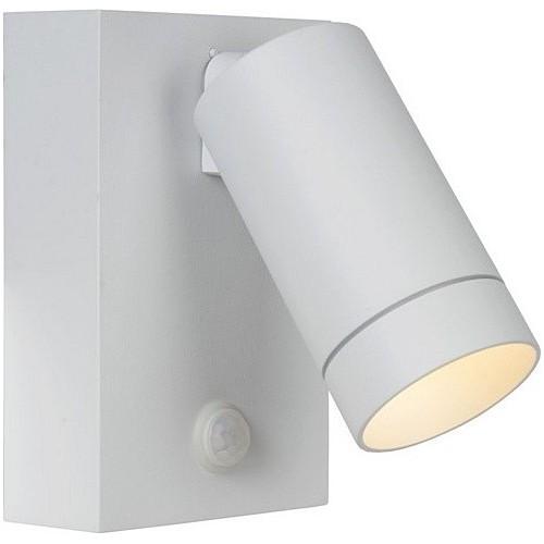 Kinkiet zewnętrzny z czujnikiem ruchu Taylor LED biały Lucide