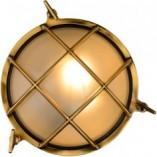 Kinkiet elewacyjny okrągły Dudley mosiężny Lucide