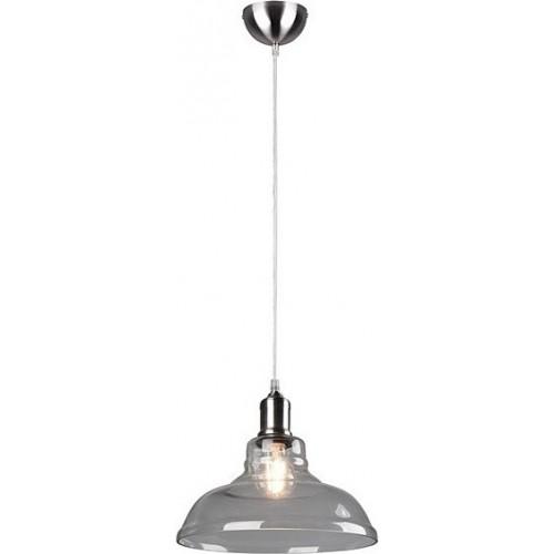 Dekoracyjna Lampa szklana wisząca retro Aldo 38 przezroczysta Trio do salonu, kuchni i sypialni.