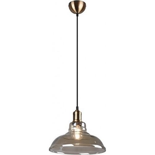 Dekoracyjna Lampa szklana wisząca retro Aldo 28 bursztynowa Trio do salonu, kuchni i sypialni.