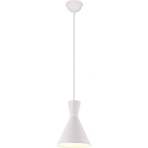 Stylowa Lampa wisząca loft Enzo 20 biała Trio do kuchni i salonu.