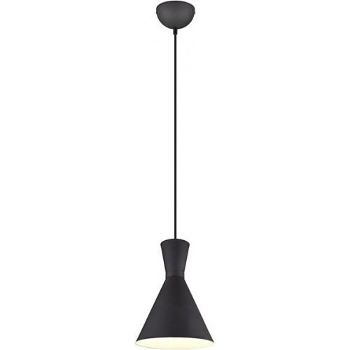 Stylowa Lampa wisząca loft Enzo 20 czarna Trio do kuchni i salonu.