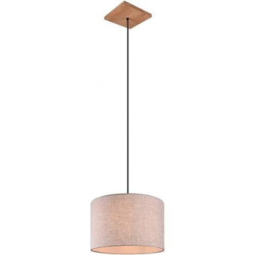 Lampa wisząca skandynawska z abażurem Elmau 35 szara Trio do jadalni i salonu.