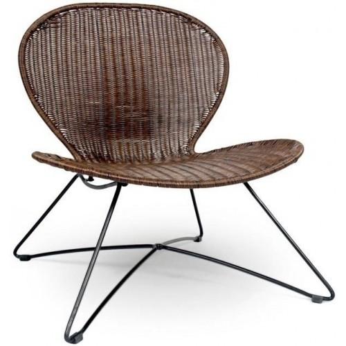 TROY fotel brązowy