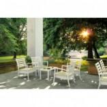 Stolik kawowy ogrodowy Ocean 90x45 srebrnoszary Siesta