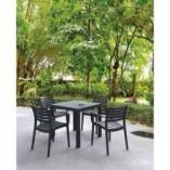 Stół ogrodowy plastikowy Ares 80x80 ciemnoszary Siesta